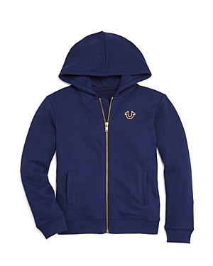 True Religion Boys' Zip-Up Logo Hoodie - Little Kid, Big Kid