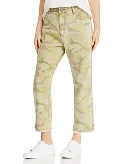One Teaspoon - Bandits High-Rise Cropped Boyfriend Jeans in Camo
