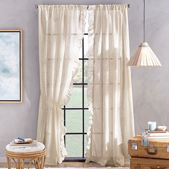 "Peri Home - Arabella Rod Pocket Curtain Panel, 50"" x 95"""