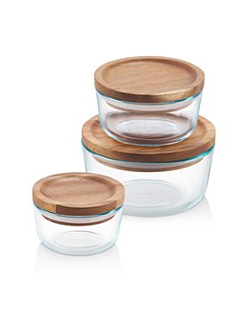 Pyrex - Wooden Storage 6-Piece Set