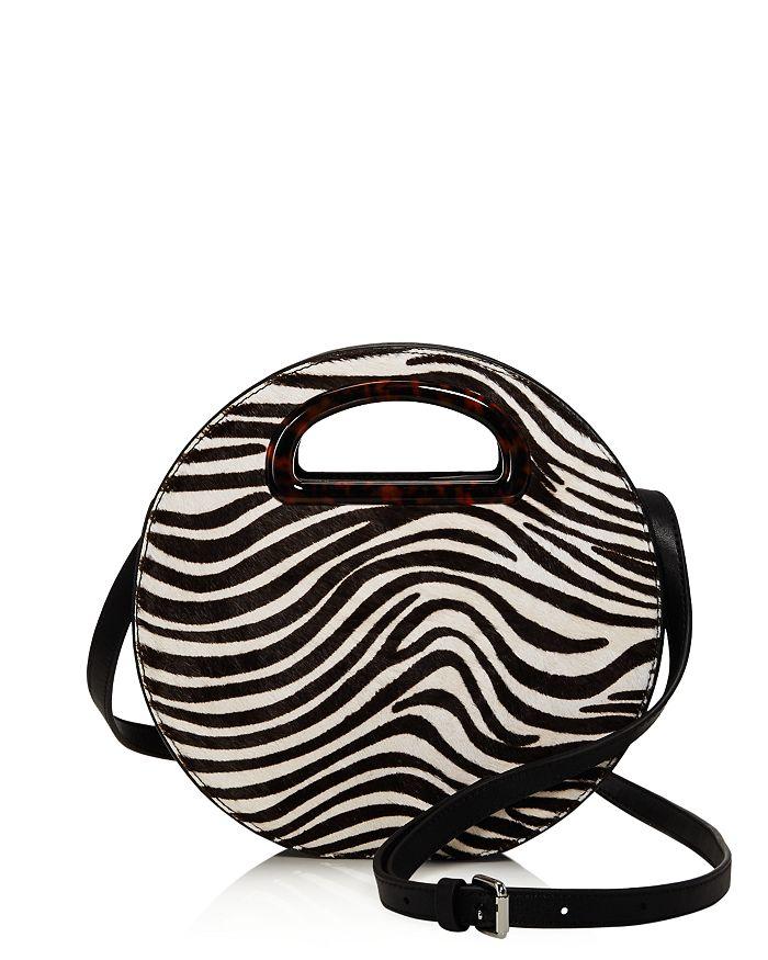 Loeffler Randall - Indy Zebra-Print Circle Crossbody