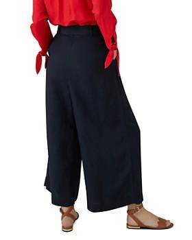 KAREN MILLEN - Belted Wide-Leg Pants