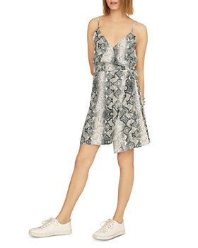 Sanctuary - Wrap It Up Snake-Print Dress