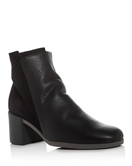 Arche - Women's Angaya Square-Toe Block-Heel Booties