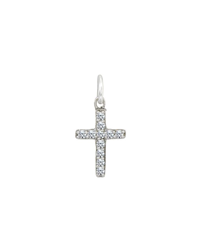 AQUA - Cross Charm in Sterling Silver  - 100% Exclusive