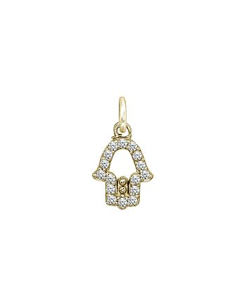 AQUA - Sparkly Hamsa Charm in 18K Gold-Plated Sterling Silver or Sterling Silver - 100% Exclusive