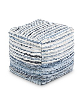 Surya - Denim Pouf