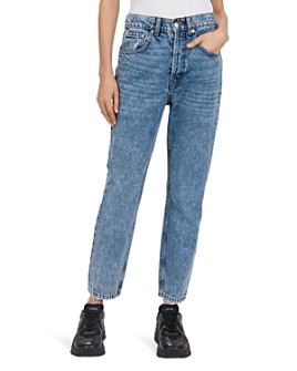 The Kooples - Snow High-Rise Cropped Straight-Leg Jeans in Blue Washed