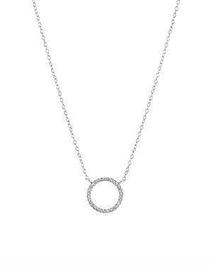 Bloomingdale's Marc & Marcella Diamond Open Circle Pendant Necklace in Sterling Silver, 15 - 100% Ex