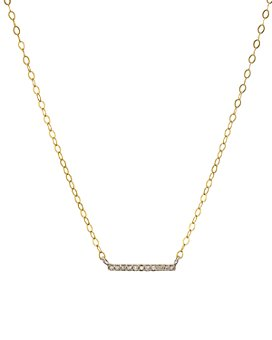 "Bloomingdale's - Diamond Bar Pendant Necklace in Gold-Plated Sterling Silver, 15"" - 100% Exclusive"
