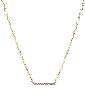 """Bloomingdale's - Diamond Bar Pendant Necklace in Gold-Plated Sterling Silver, 15"""" - 100% Exclusive"""