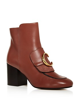 Chloé - Women's C Leather Ankle Booties