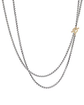 David Yurman - Sterling Silver & 14K Yellow Gold Bel Aire Long Chain Necklace, 41""