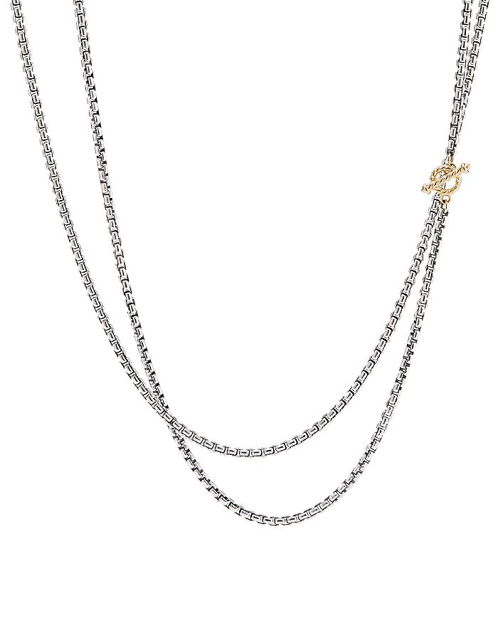 """David Yurman - Sterling Silver & 14K Yellow Gold Bel Aire Long Chain Necklace, 41"""""""