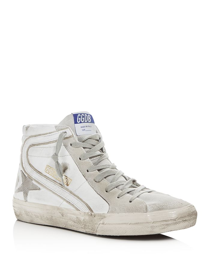 Golden Goose Deluxe Brand - Unisex Slide Leather High-Top Sneakers