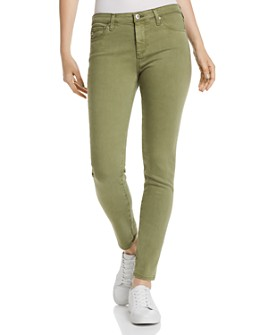 AG - Mid-Rise Cigarette Ankle Jeans in Sulfur Olivewood