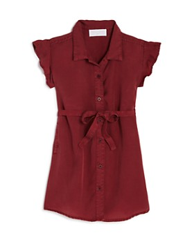 Bella Dahl - Girls' Flutter-Sleeve Shirt Dress - Little Kid, Big Kid