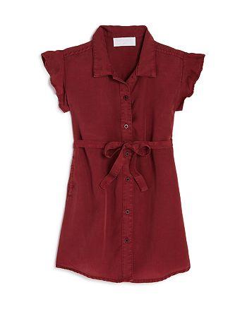 Bella Dahl - Girls' Flutter-Sleeve Shirt Dress - Little Kid, Big Kid