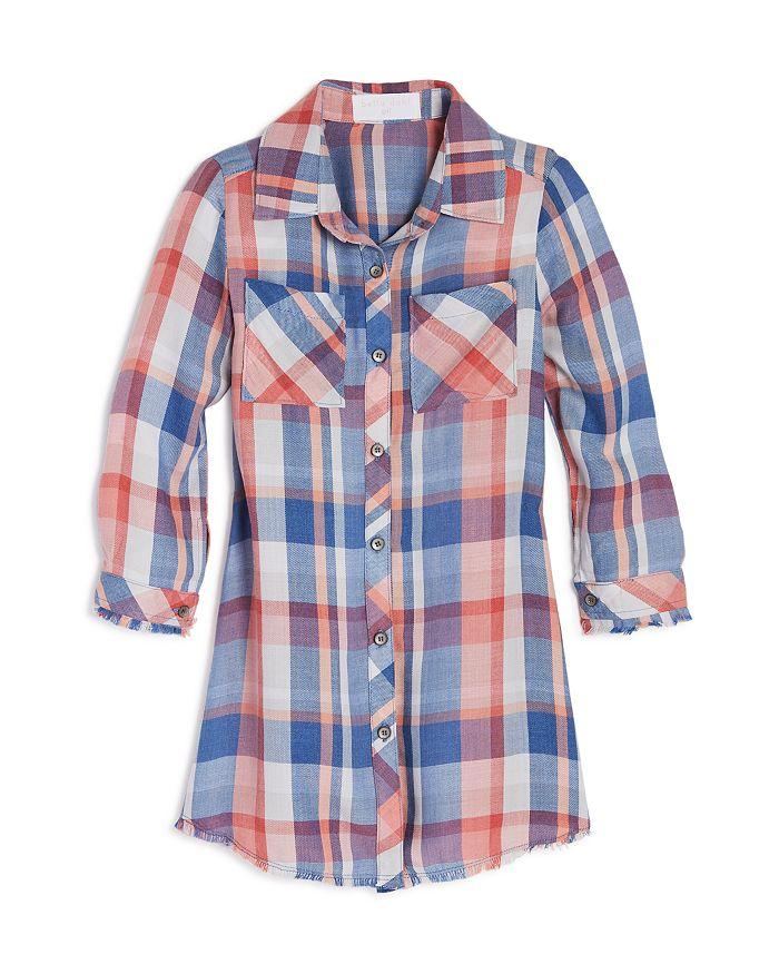 Bella Dahl - Girls' Plaid Shirt Dress - Little Kid, Big Kid
