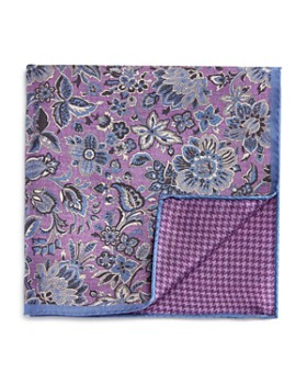 The Men's Store at Bloomingdale's - Exploded Floral/Houndstooth Pocket Square
