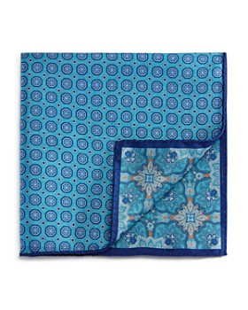 The Men's Store at Bloomingdale's - Floral/Circle Medallion Pocket Square