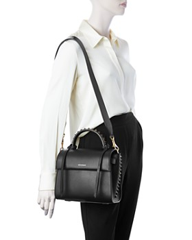 ELENA GHISELLINI - Angel Small Punky Leather Satchel