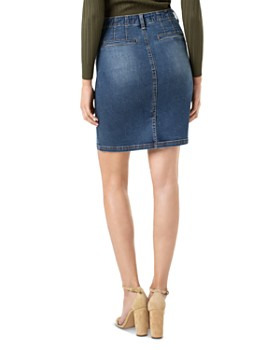 Liverpool - Denim Button-Fly Pencil Skirt