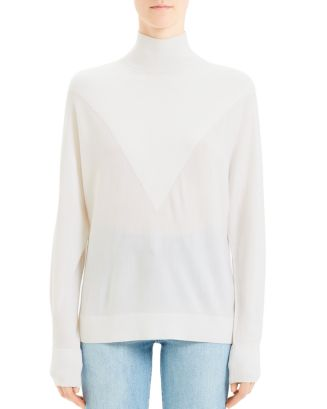 wool-intarsia-turtleneck-sweater by theory