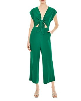 Sandro - Jason Cropped Tie-Detail Jumpsuit