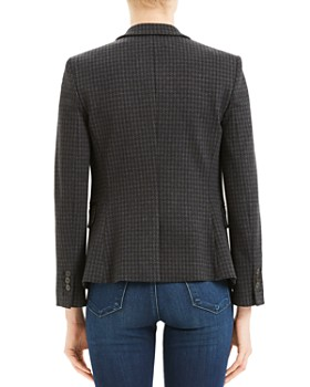 Theory - Carissa Houndstooth Two-Button Blazer