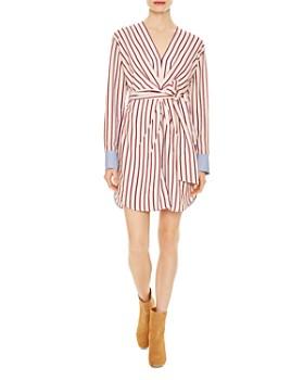 d908b381b Sandro - Paige Striped Belted Mini Dress ...