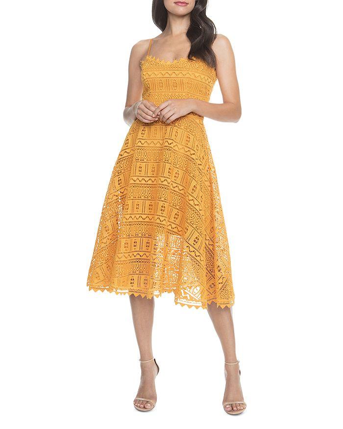Dress the Population - Brenna Lace Midi Dress