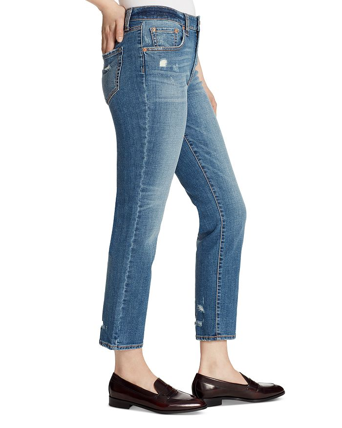 100% top quality 2018 shoes bottom price High-Rise Slim Straight Ankle Jeans in McKinney