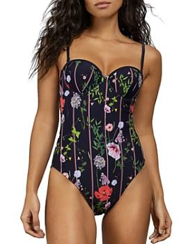 023eb3c793 Ted Baker - Maariee Hedgerow-Print Balconette One Piece Swimsuit ...