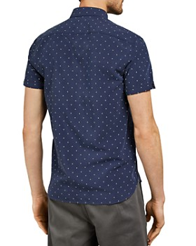 Ted Baker - Bronze Diamond Polynosic Slim Fit Shirt