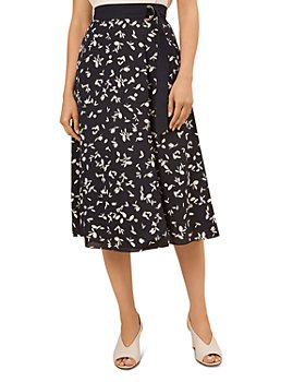 HOBBS LONDON - Scarlett Printed Faux-Wrap Skirt