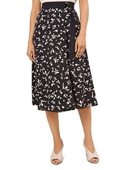 HOBBS LONDON - Scarlett Printed Faux-Wrap Skirt