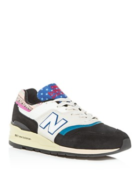 New Balance - Men's Made in the USA 997 Mixed Media Low-Top Sneakers