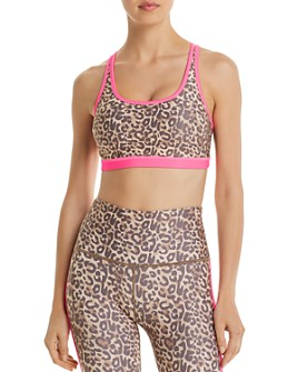 Wear It To Heart - Leopard Print Strappy Sports Bra