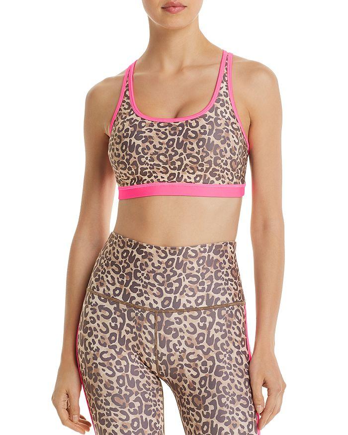 Wear It To Heart - Leopard Print Strappy Sports Bra