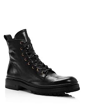 John Varvatos Collection - Men's Leather Combat Boots