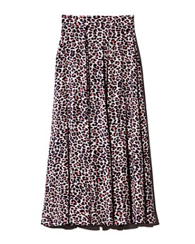 Zadig & Voltaire - Joyo Leopard-Print Pleated Maxi Skirt
