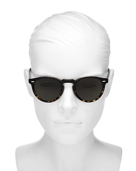 Oliver Peoples - Unisex Gregory Peck Polarized Round Sunglasses, 47mm