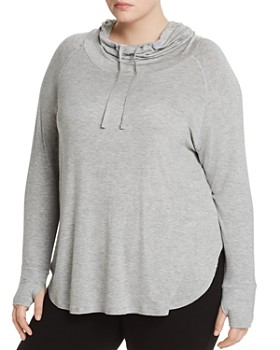 Marc New York Plus - Hooded Long-Sleeve Cowl-Neck Tee