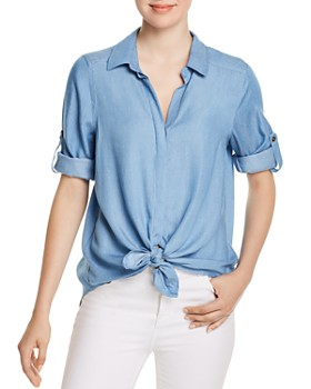 Single Thread - Tie-Front Button-Down Shirt