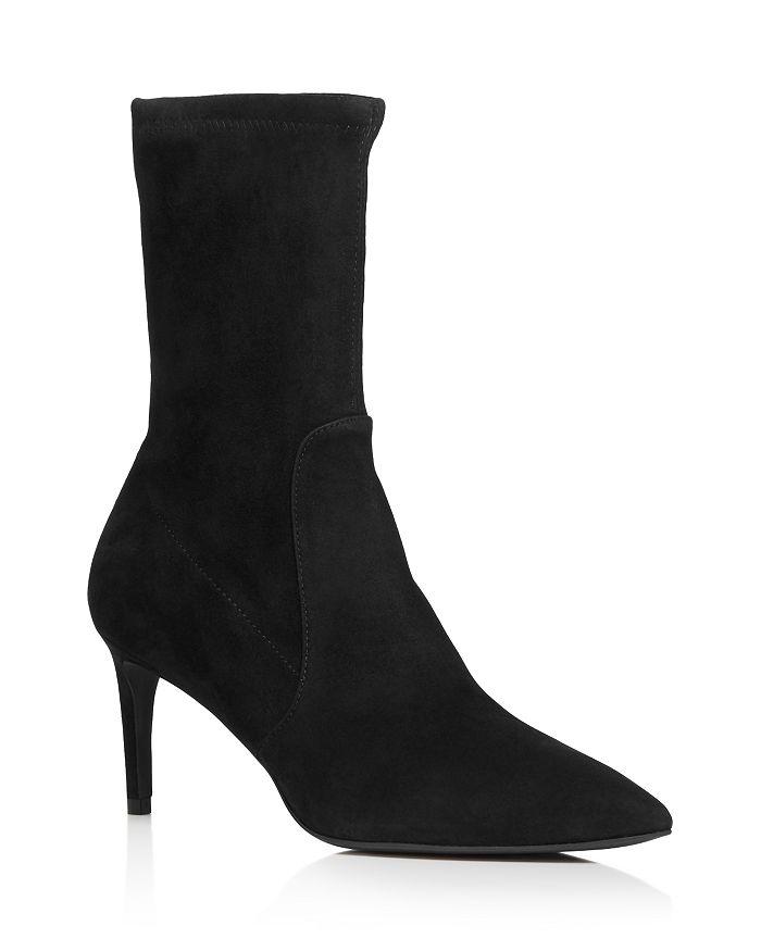 Stuart Weitzman - Women's Wren Pointed Toe High Heel Booties