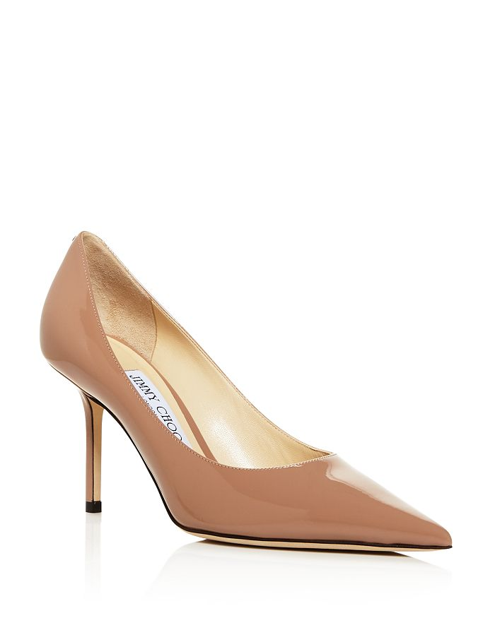 Jimmy Choo Women's Love 85 Pointed Toe Pumps In Ballet Pink Patent Leather