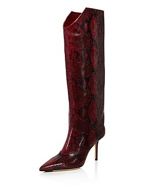 Jimmy Choo Women's Brelan 85 Snake-Print High-Heel Boots - 100% Exclusive In Bordeaux