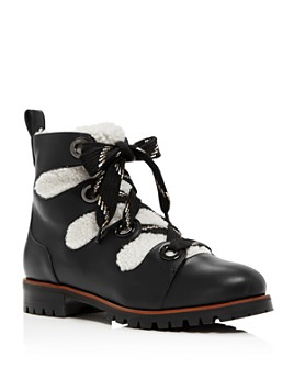 Jimmy Choo - Women's Bei Shearling Lace Up Ankle Booties