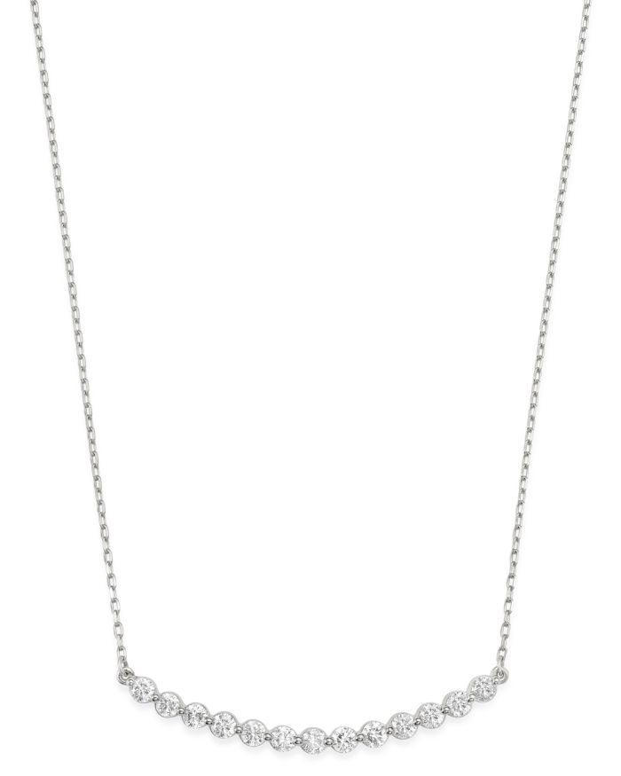 Bloomingdale's Diamond Bar Necklace in 14K White Gold, 0.75 ct. t.w. - 100% Exclusive  | Bloomingdale's